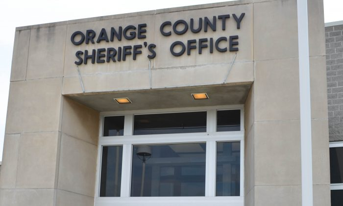 Entrance to the Orange County Sheriff's Office in Goshen on Aug. 31, 2015. (Yvonne Marcotte/Epoch Times)