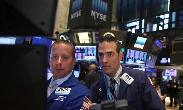 Traders on the floor of the New York Stock Exchange on Sept. 1, 2015. (Spencer Platt/Getty Images)