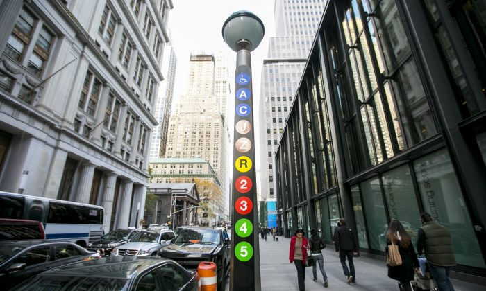 The new Fulton Center which connects nine subway lines in Lower Manhattan, New York, on Nov. 9, 2014.  The Citizens Budget Commission argues that the MTA should focus more on repairs and less on expansion. (Samira Bouaou/Epoch Times)