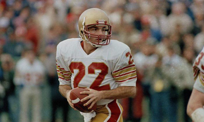 Boston College quarterback Doug Flutie made the game-winning throw to beat Miami at the Orange Bowl on the way to winning the Heisman Trophy in 1984. (AP Photo/Elise Amendola)