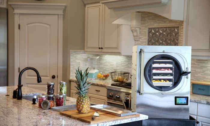 The Harvest Right in-home freeze dryer is about the size of a mini-fridge. (Courtesy of Harvest Right)