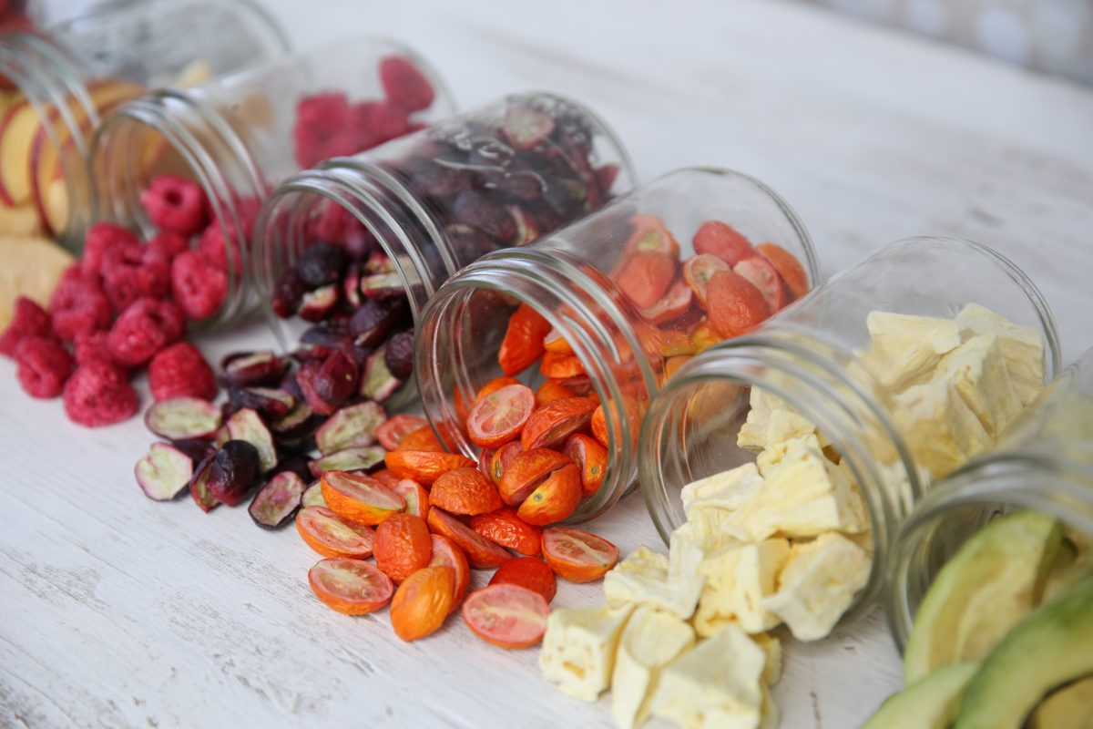 Freeze-dried fruits an vegetables make great snacks for kids. (Courtesy of Harvest Right)