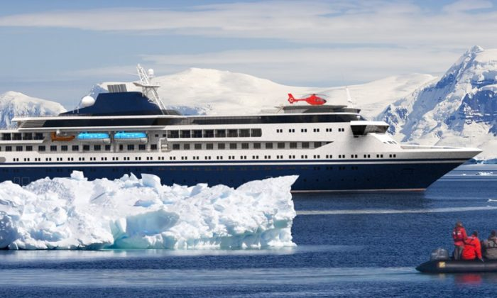 The vessel designed by Knud E. Hansen is a luxury expedition cruise vessel with energy saving and emissions reduction technologies including solar cells and battery systems (Knud E. Hansen Company website)