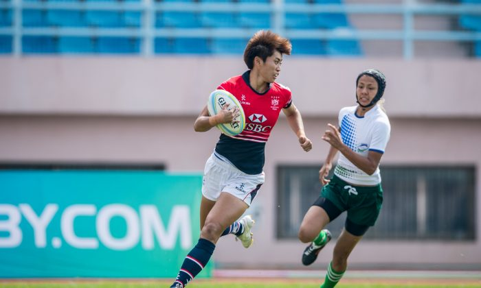 ong Kong's Aggie Poon Pak Yan scored a hat trick in the final taking her total points score in the China Sevens weekend, in Qingdao, on Sept 5-6 to 78 points – 12 tries and 9-conversions. (HKRFU/Asia Rugby)