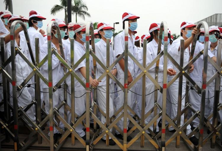 Hundreds of Honda workers in Foshan, Guangdong went on strike on May 17. (The Epoch Times Photo Archive)