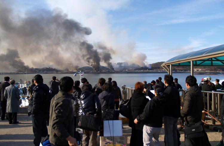 On Nov 23, 2010 North Korea bombed South Korea's Yeonpyeong island, located 83km (50 miles) from Seoul. (Getty Images)