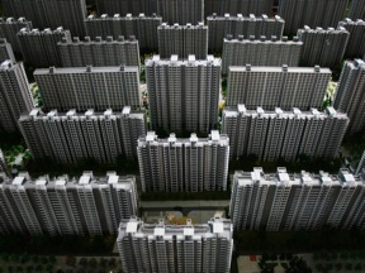 Miniature model of a housing complex in China.  (Getty Images)