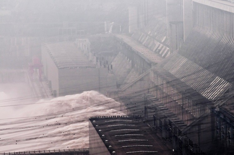 A view of the Three Gorges Dam in Xiling, central China's Hubei province in July 2010.  (Olli Geibel/AFP/Getty Images)