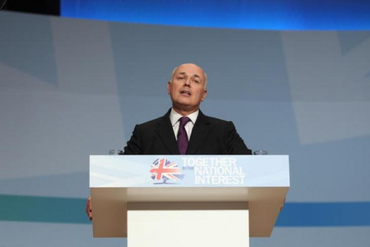 Incapacity Benefit is part of the Universal Credit set out by British Work and Pensions Secretary, Iain Duncan Smith, at the Conservative Party Conference on Oct. 5, 2010 in Birmingham, England.