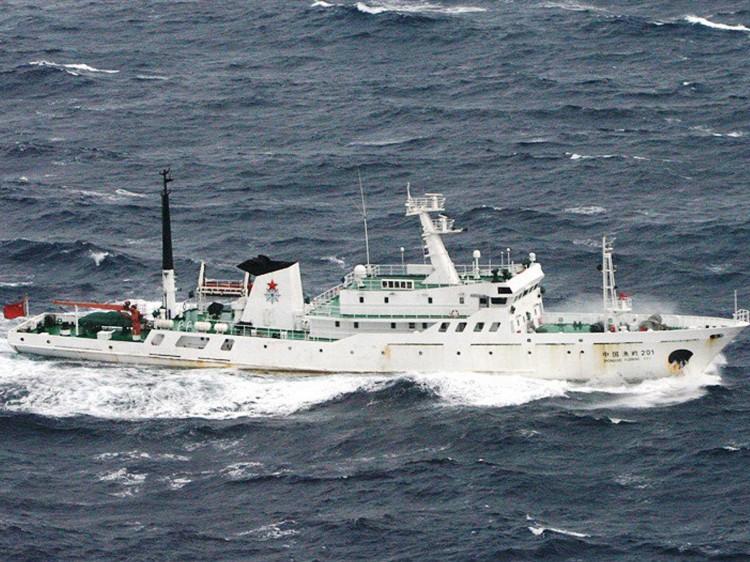 A Chinese fisheries patrol ship in 2010, near the Senkaku Islands.