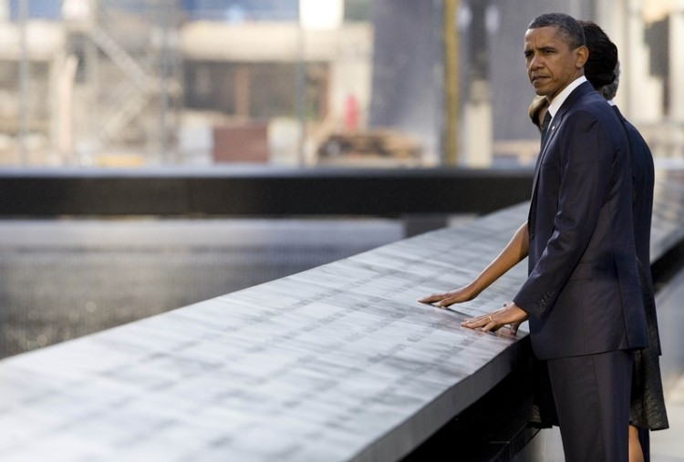 9/11 was a solemn occasion in the U.S., and a chance to remember America's values of freedom and democracy.  (Getty Images)