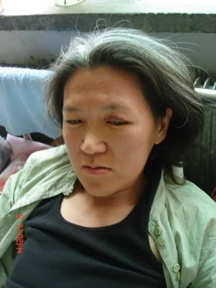 Fu Nan has been appealing her husband's unexplained disappearance from the military since 1998.  (Courtesy of rightscampaign.blogspot.com)