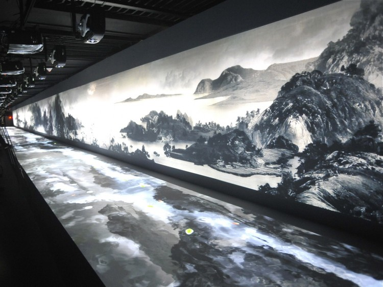 A 600-year-old Chinese painting entitled 'Dwelling in the Fuchun Mountains' in the National Palace Museum Taipei. Treasures taken from mainland China before the CCP came into power in 1949. (Patrick Lin/AFP/Getty Images)