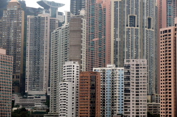 Residential luxury apartments on the island of Hong Kong