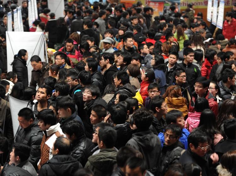 an employment fair in Hefei