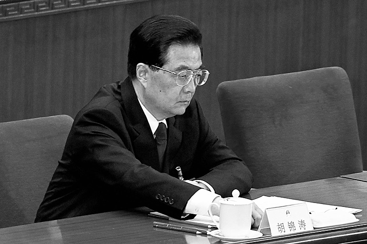 Hu Jintao at the NPC closing session on Mar 14