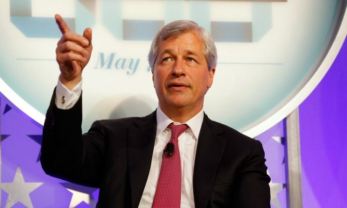 Chairman and CEO of JPMorgan Chase & Co. Jamie Dimon at the New York Stock Exchange in New York on May 7, 2012. According to Dimon, CEOs of large companies are increasingly confident in continued economic growth. (Jemal Countess/Getty Images for Time)