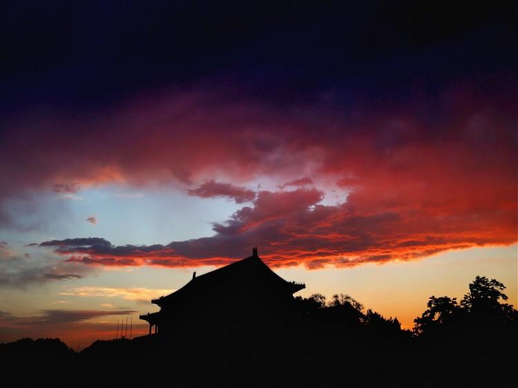 Tiananmen Gate at sunset