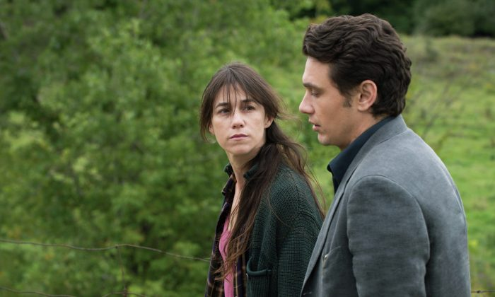 """James Franco plays a brooding writer struggling with the regret of a lifetime, which brings him together with a mother played by Charlotte Gainsbourg in """"Every Thing Will Be Fine."""" (Courtesy of TIFF)"""