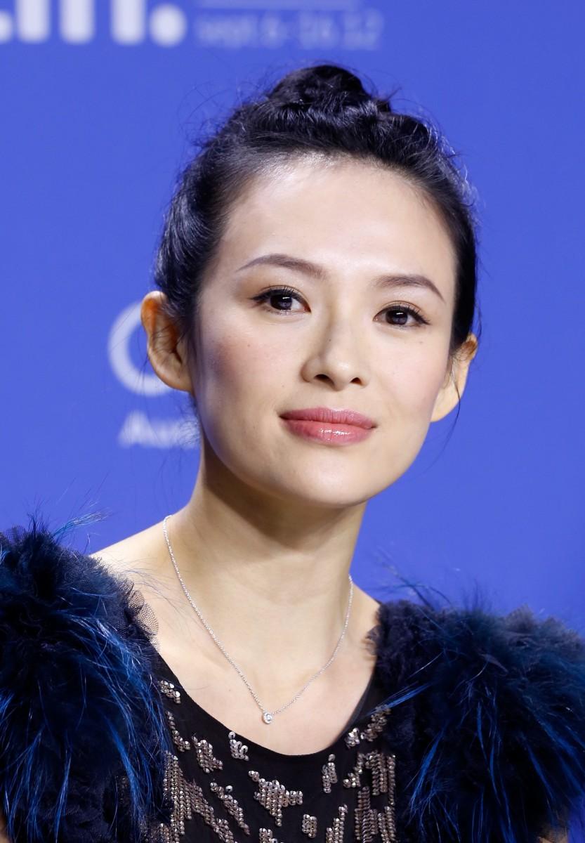 Actress Ziyi Zhang at a press conference