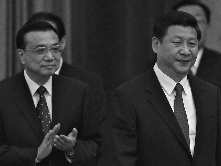Xi Jinping (R) and Li Keqiang (L)  on Sept. 29, 2012