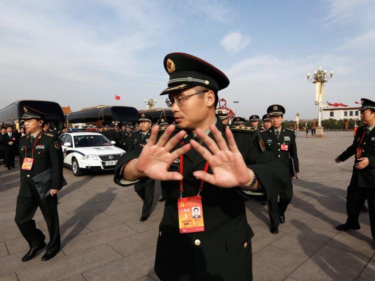 at Tiananmen Square on Nov. 7, in Beijing.