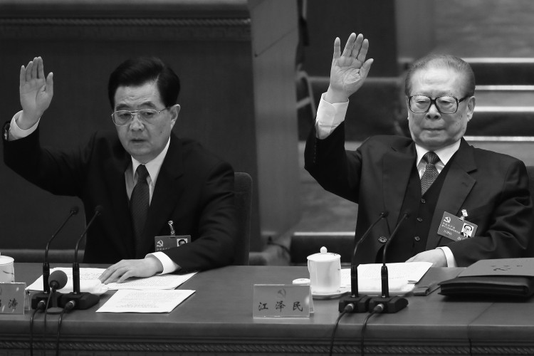 Outoing Chinese Communist Party head Hu Jintao