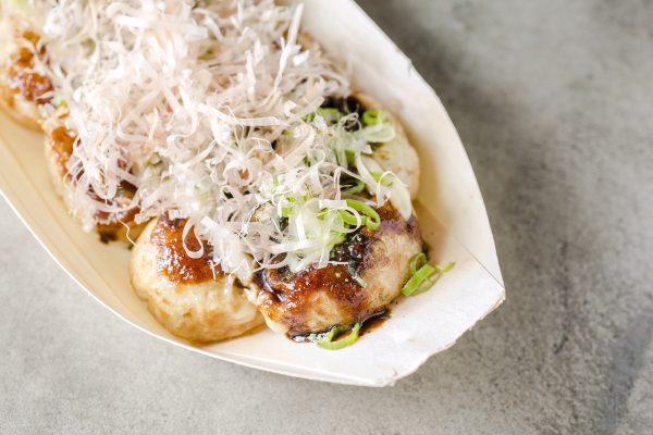 Takoyaki, or octopus balls, a popular Japanese snack. (Samira Bouaou/Epoch Times)