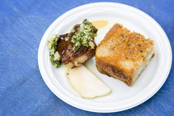 Maple Grilled Cheese Sandwich and Fried Smoked Pork Rib from Snowday Food Truck. (Samira Bouaou/Epoch Times)