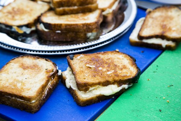Maple Grilled Cheese Sandwich from Snowday Food Truck. (Samira Bouaou/Epoch Times)