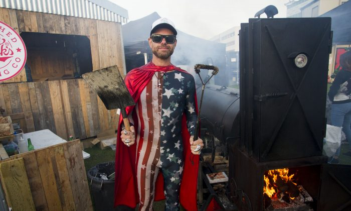 Christian Stevenson, aka DJ BBQ, cooked his heart out and was mostly sold out at Grillstock London