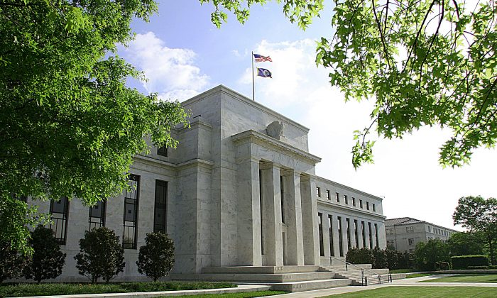 The U.S. Federal Reserve Building in Washington, D.C., on May 4, 2008. (Karen Bleier/AFP/Getty Images)