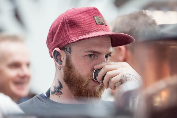A visitor at coffee festival. (Courtesy of New York Coffee Festival)