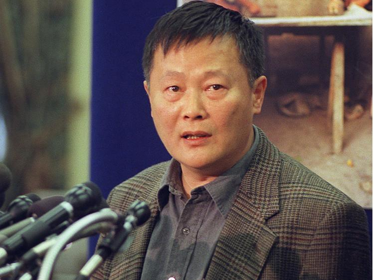 Wei Jingsheng, former Chinese political prisoner and democracy advocate speaks during a press conference.   (Leslie E. Kossoff/AFP/Getty Images)