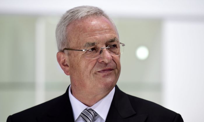 Volkswagen Group CEO Martin Winterkorn arrives for the Volkswagen annual general shareholders' meeting in Hanover, Germany, on May 5, 2015. Winterkorn apologized on Sunday, Sept. 20, 2015 for breaking the public's trust after the company was accused of cheating on auto air quality tests. (Alexander Koerner/Getty Images)