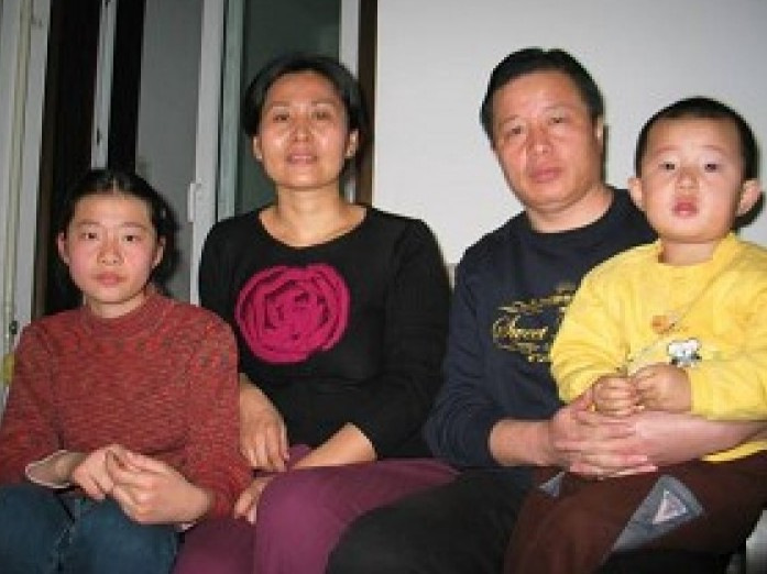 Attorney Gao Zhisheng with his family