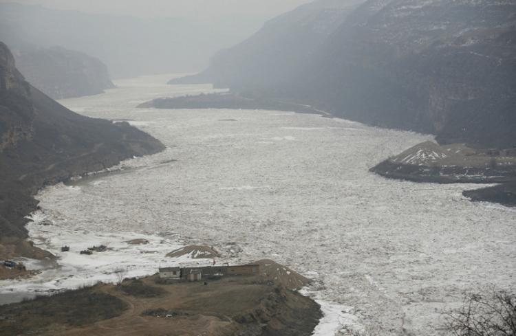 The might Yellow River at Jixian in Shanxi Province. (China Photos/Getty Images)