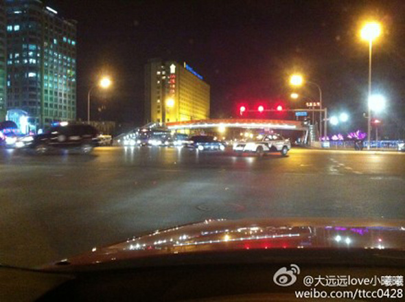 A variety of police on Changan Street in Beijing