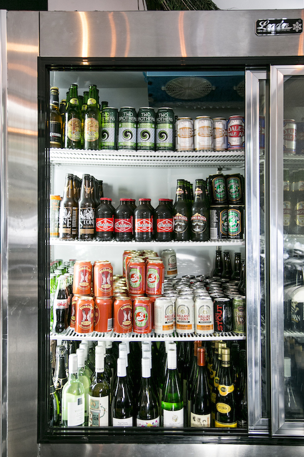 Help yourself beer fridge. (Samira Bouaou/Epoch Times)