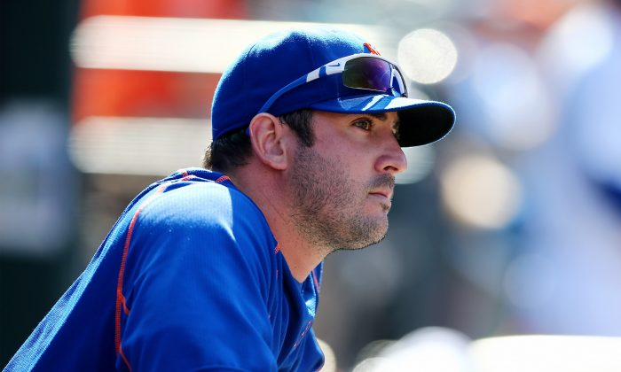 Matt Harvey has a 12–7 record with a 2.80 ERA in 27 starts for the New York Mets. (Elsa/Getty Images)