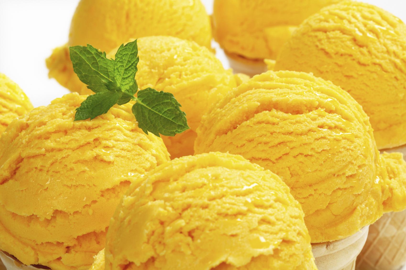Dairy-Free Mango Ice Cream in 1.5 Minutes