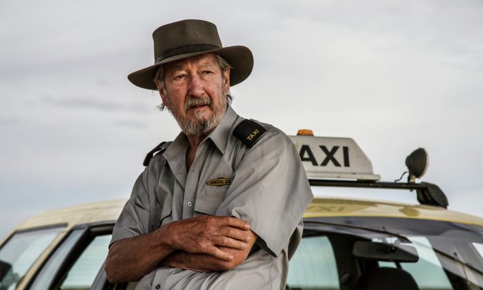 """Michael Caton as Rex in """"Last Cab to Darwin,"""" a drama/comedy about a 70-year-old taxi driver with terminal cancer who drives across the Australian outback to Darwin seeking to die on his own terms. (Courtesy of TIFF)"""