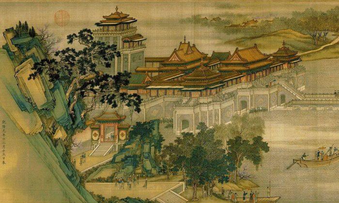 Zhang Zeduan along the river during the Qingming Festival. (Wikimedia Commons)