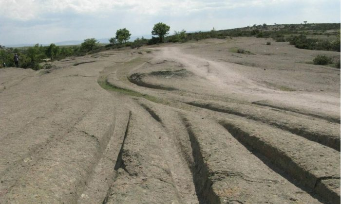 Mysterious ancient tracks dissect the landscape in the Phrygian Valley of Turkey. What is the truth about who made these tracks, and how? (Alexander Koltypin/ Dopotopa.com)