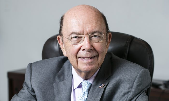 Wilbur L. Ross Jr, Chairman and Chief Strategy Officer at WL Ross & Co, in Chelsea, Manhattan, on Sept. 2, 2015.  President-elect Donald Trump chose Ross as his commerce secretary. (Samira Bouaou/Epoch Times)