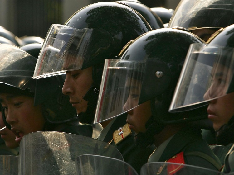 Chinese riot police.