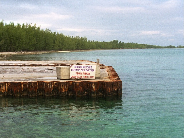 at Fangataufa atoll, French Polynesia