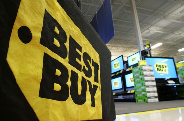 Best Buy announced its plan to close all nine retail stores in China and its headquarters in Shanghai. About 1,000 full-time employees will be laid off.  (Justin Sullivan/Getty Images)