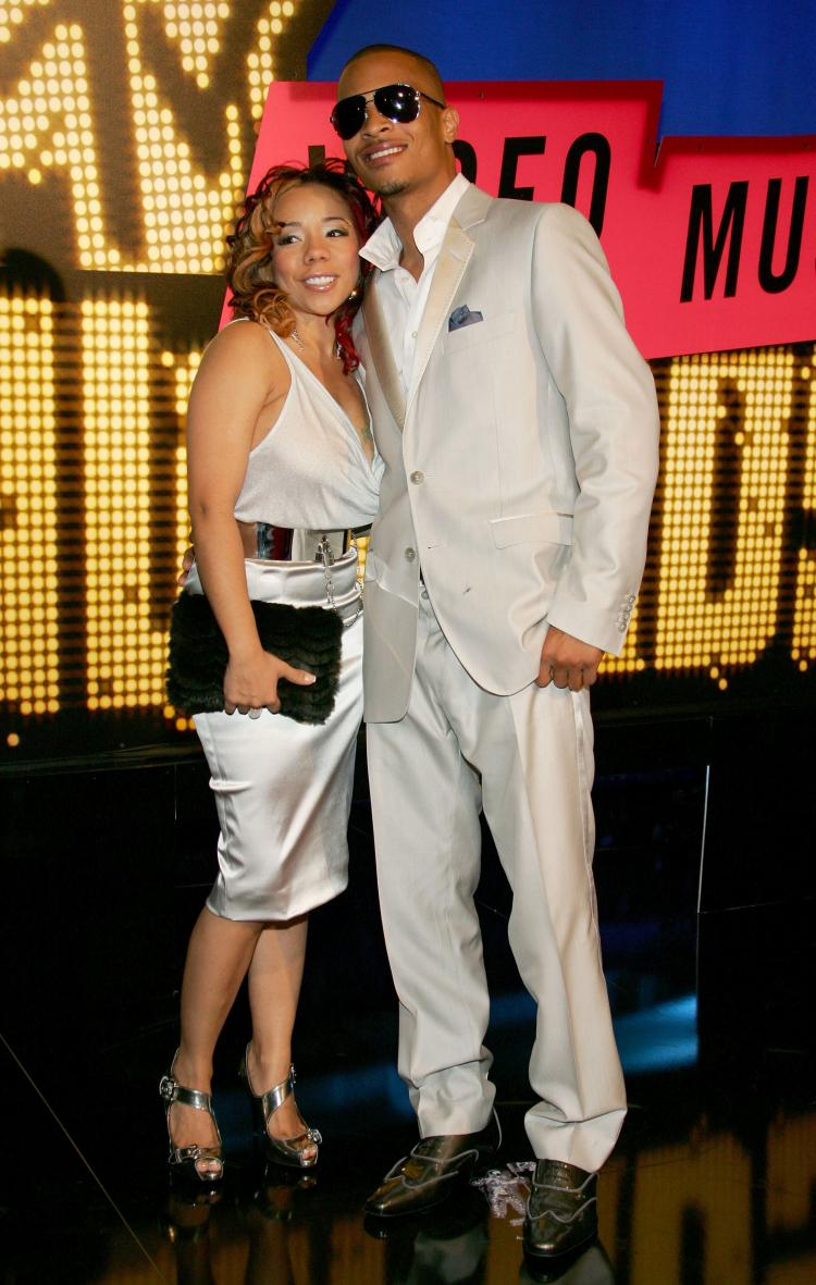 Recording Artist TI With His New Wife Tameka Tiny Cottle Ethan Miller