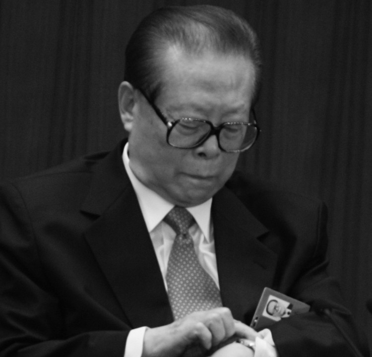 Former Chinese regime head Jiang Zemin